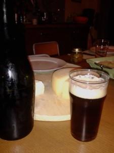 birra finita e formaggi