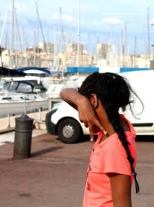Ragazzina, Marsiglia, Francia